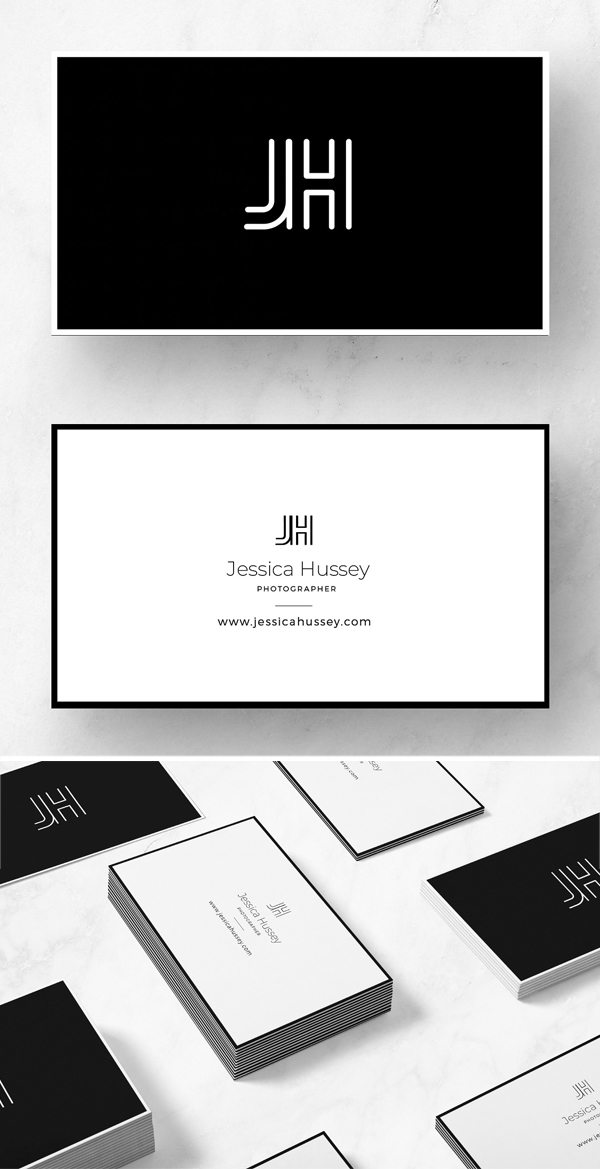Minimalist JH business card template