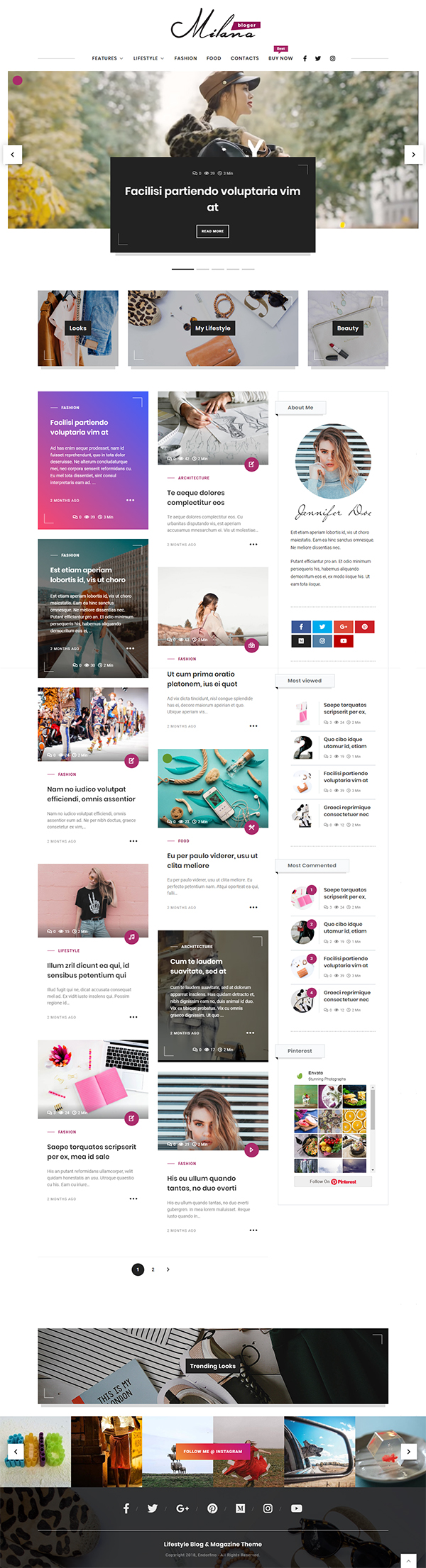 Endorfino - Lifestyle Blog & Magazine WordPress Theme