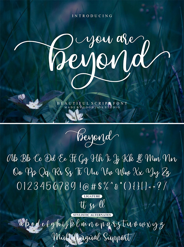 Beyond – Beauty Font Design