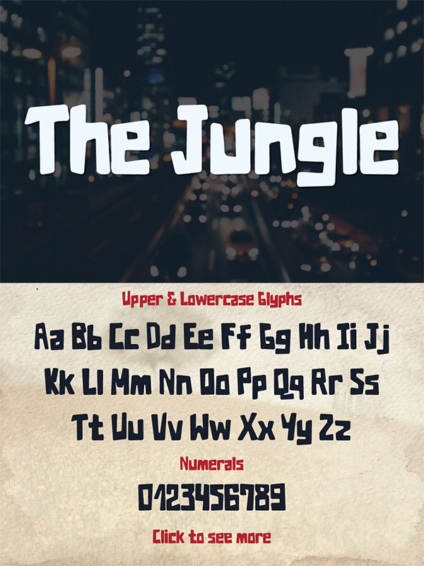 The Jungle Typeface