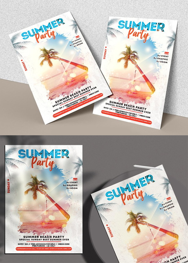 Awesome Summer Party - PSD Flyer Template