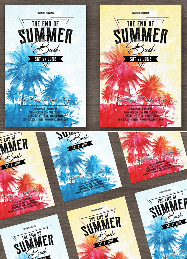 Creative Summer Party Flyer