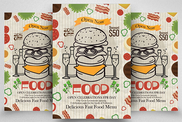 Fast Food Restaurant Flyer Template