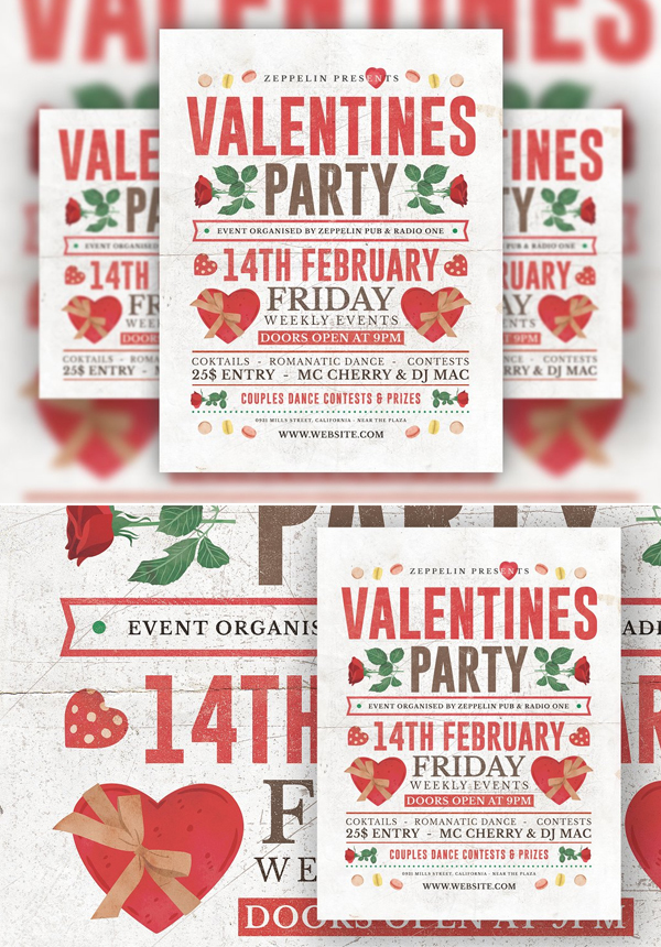 Awesome Valentine's Day Flyer Template