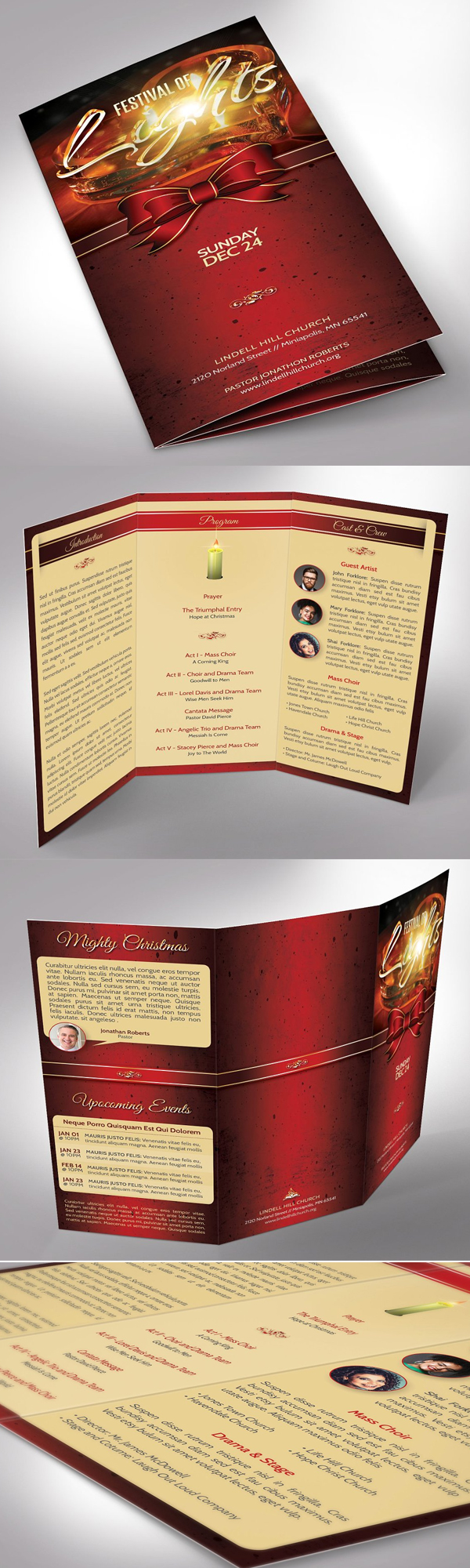 Candle Light Tri-fold Brochure
