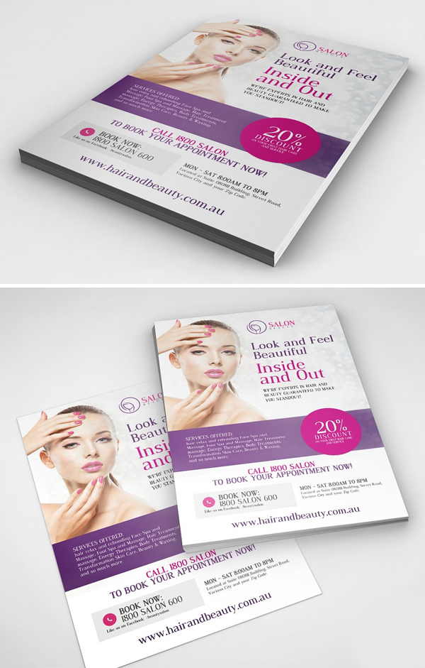Beauty Parlor Serivices Flyer