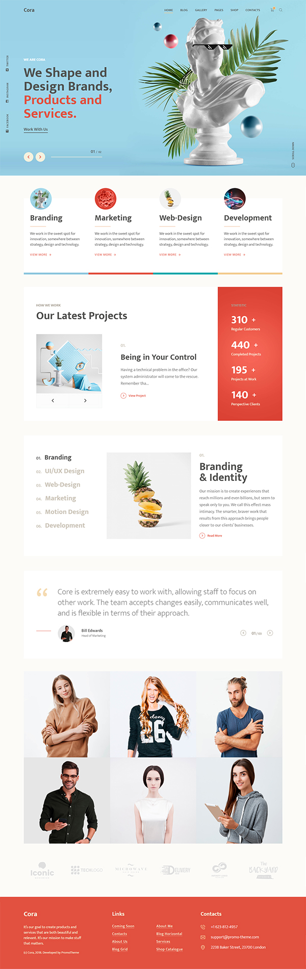 Cora | A Creative MultiPurpose WordPress Theme