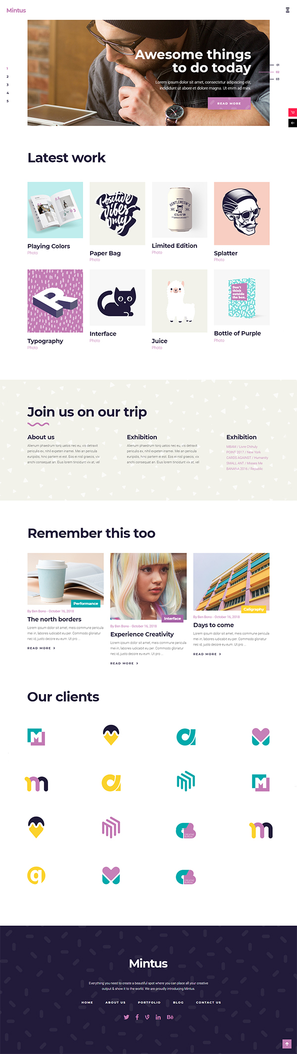 Mintus - Portfolio Theme for Illustrators and Designers