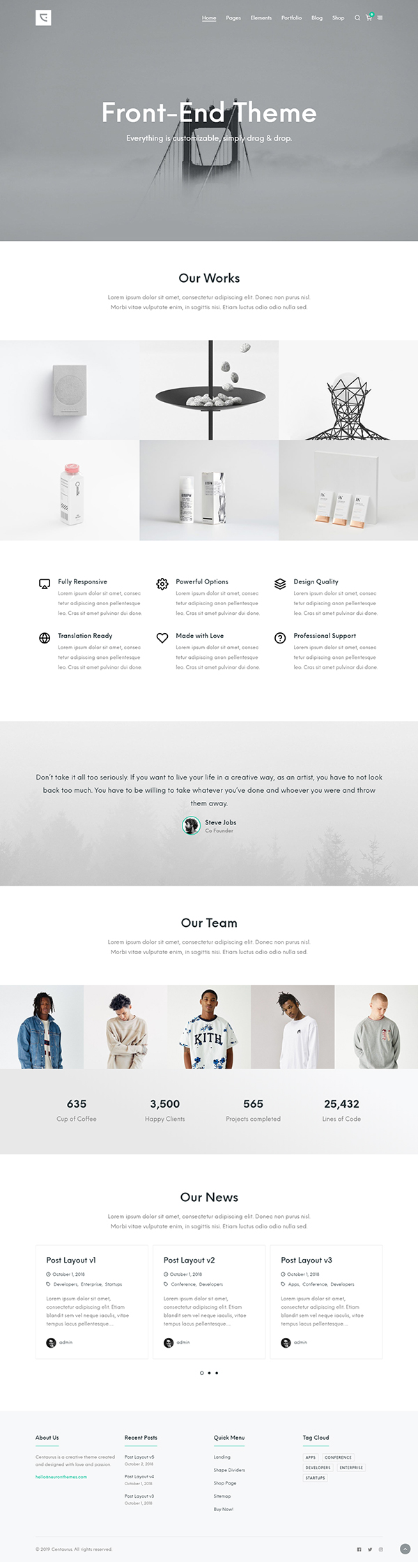 Centaurus - Creative Multi-Purpose WordPress Theme