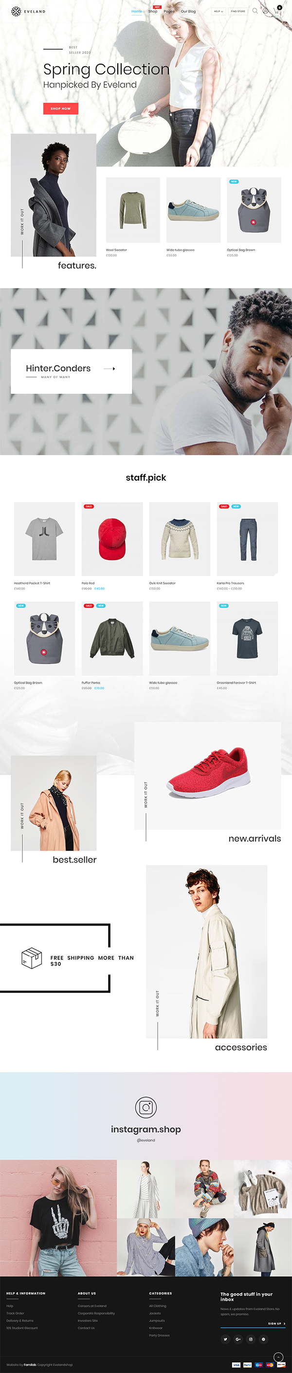 Eveland – Modern AJAX enabled WooCommerce theme