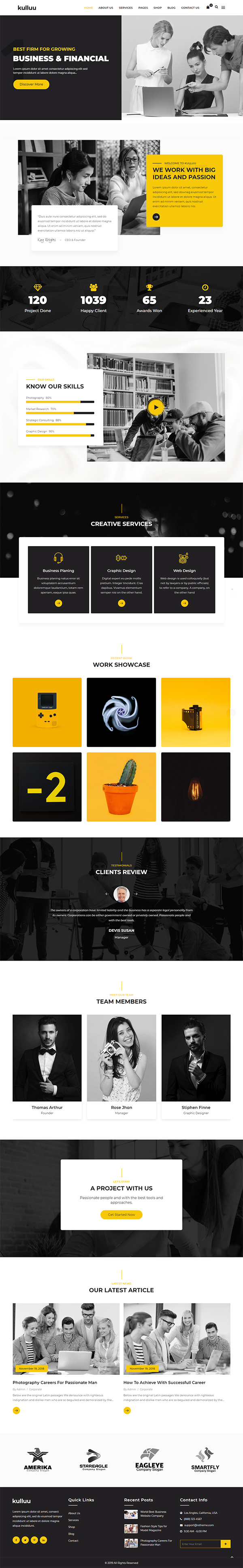 Kulluu - Creative Agency WordPress Theme