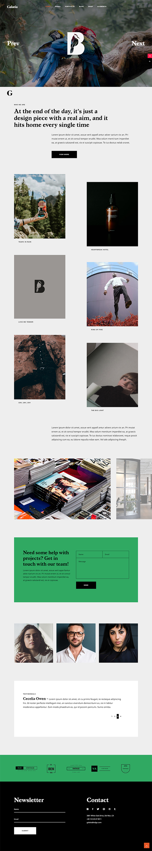 Galatia - Contemporary Agency Theme