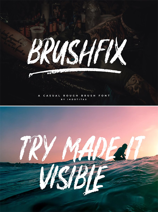 60 Best Brush Fonts For Graphic Designers - 20