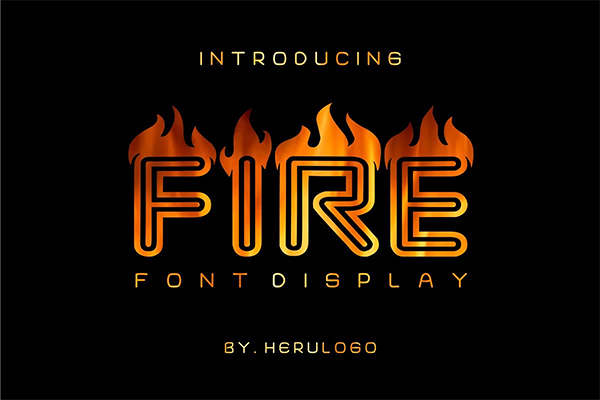 Fire Display Font