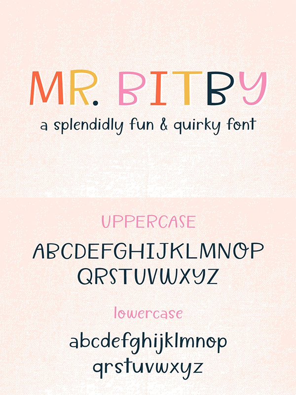 Mr. Bitby - A Quirky Font