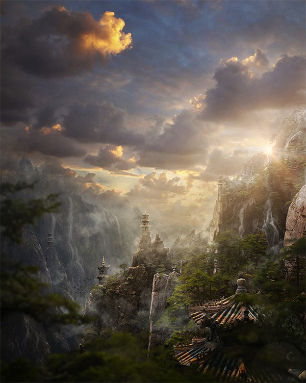 Create Magical Landscape in Photoshop