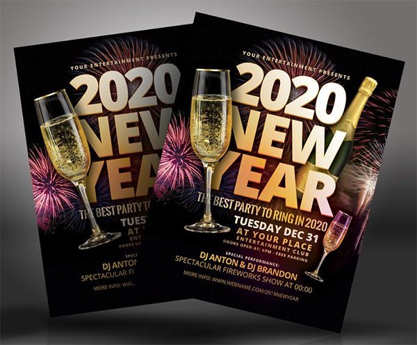Awesome New Year Flyer