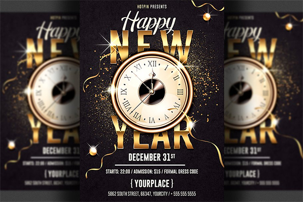 New Year Invitation Flyer Template
