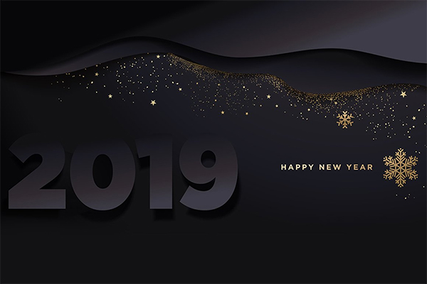 Dark Happy New Year Wallpaper