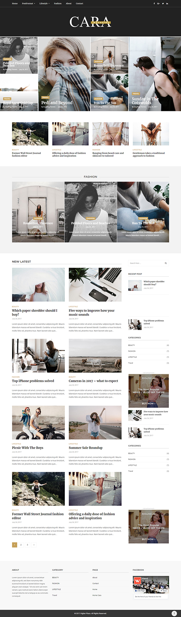 Cara - Magazine WordPress Theme