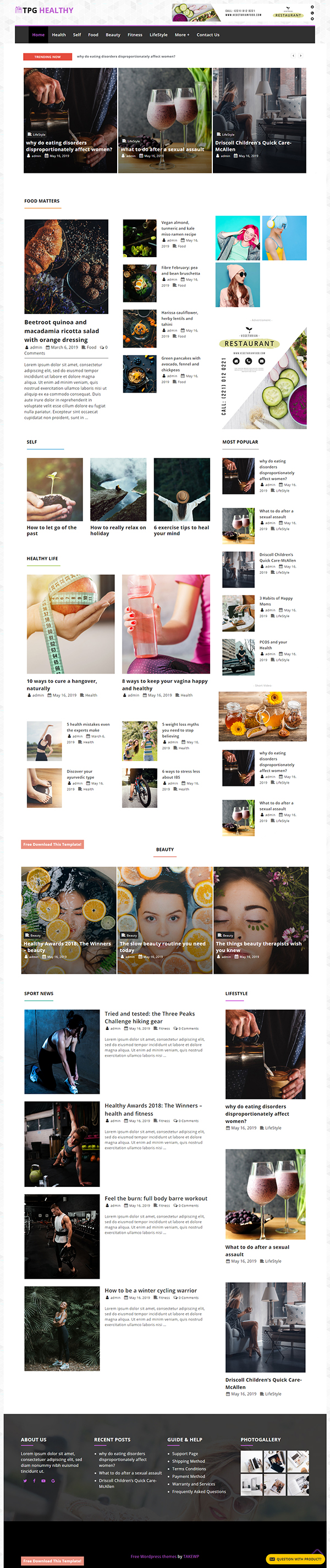 TPG Healthy Magazine WordPress