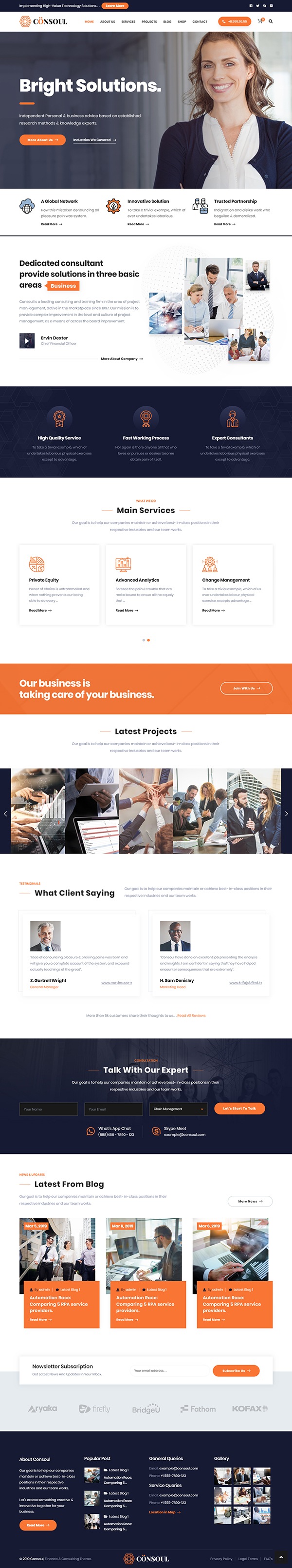 Consoul - Consulting Business WordPress Theme