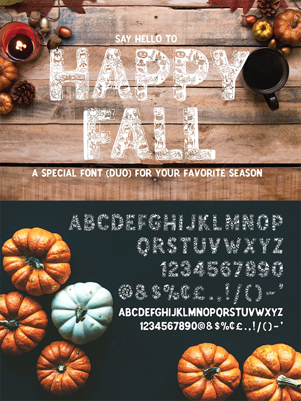 Happy Fall Display Font