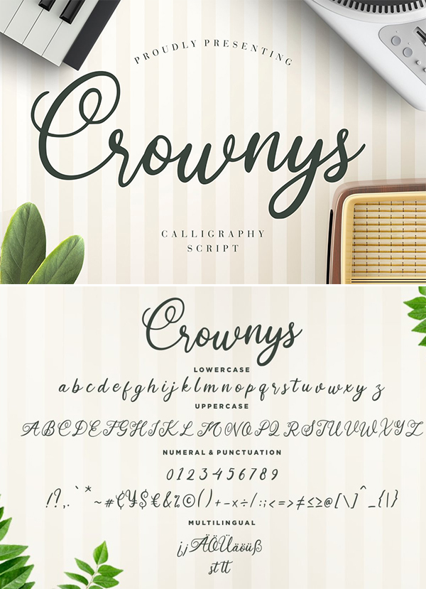 Crownys Calligraphy Script Font