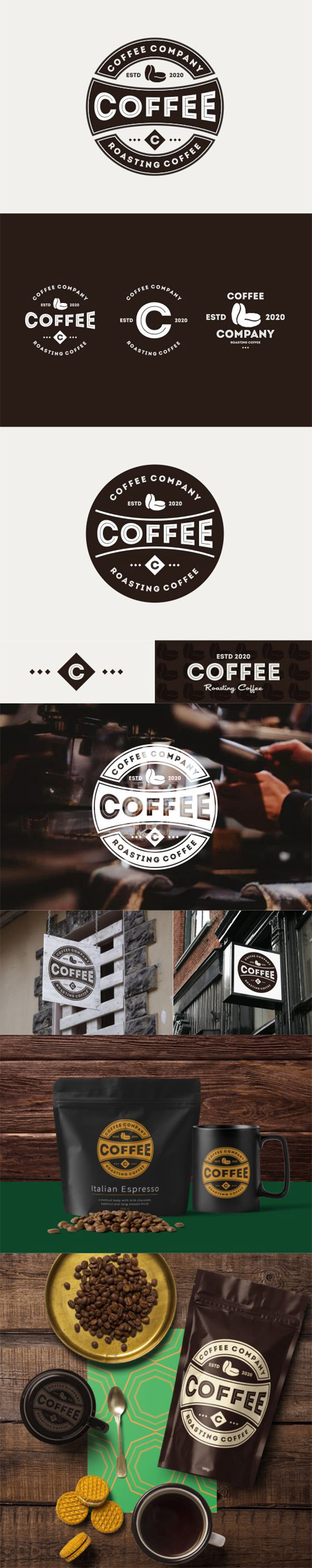 Coffee Company Badges Logo Design