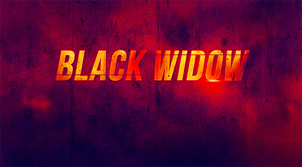 "Create ""Black Widow"" Movie Inspired Text Effect in Photoshop"
