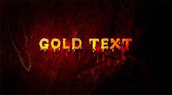 How to Create Melting Gold Text Effect in Photoshop
