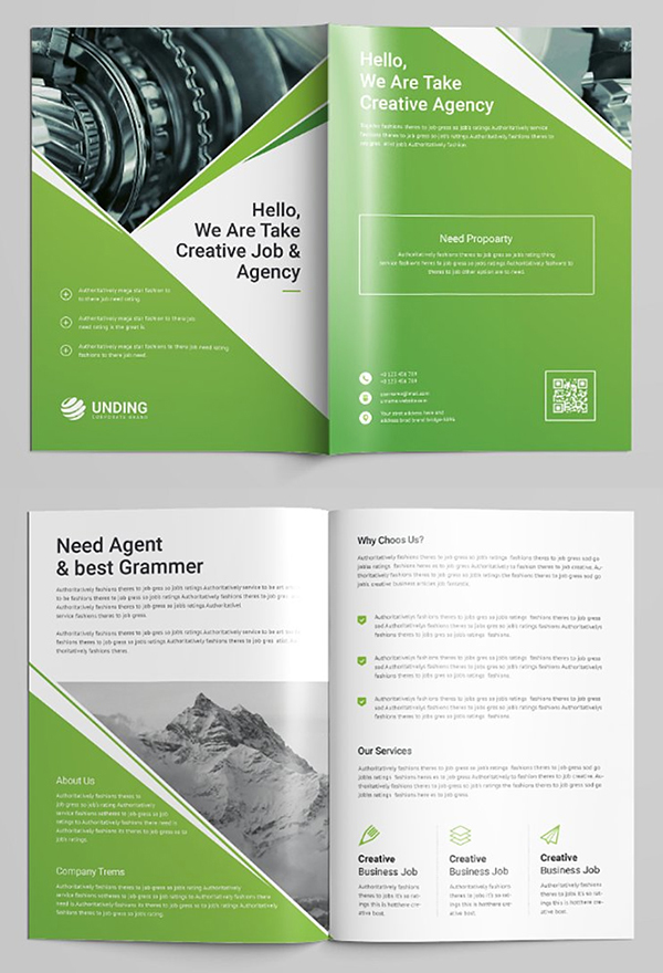 Bi-Fold Brochure Template Design