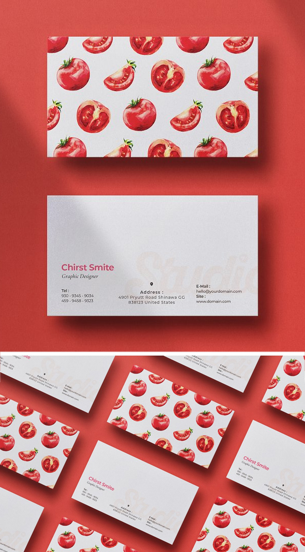 Food Business Card Template
