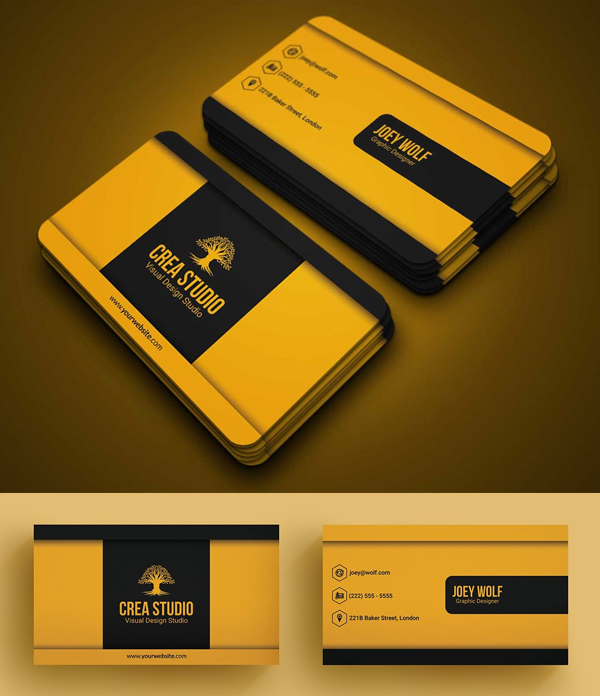 Business Card - Yellow