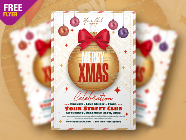 Christmas Club Event Flyer PSD