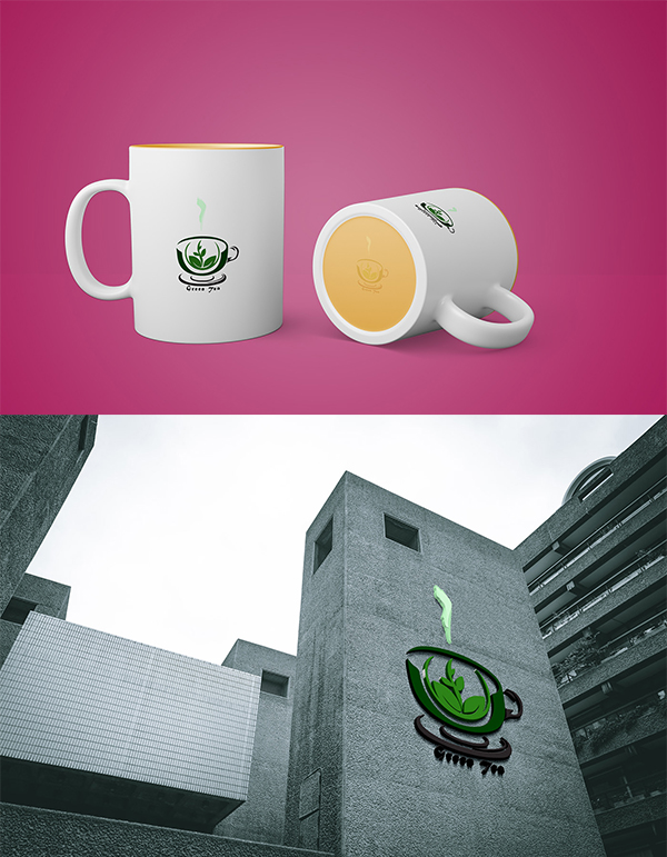 Green Tea Logo Design