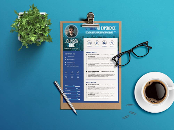 Free Creative Resume Design Template