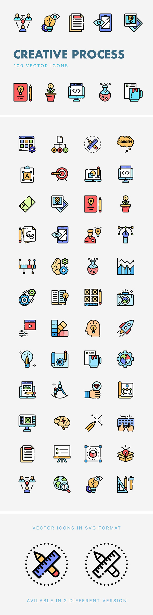 Creative Process Vector Icons