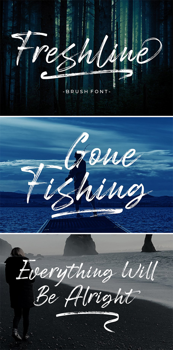 Freshline Brush Font Design