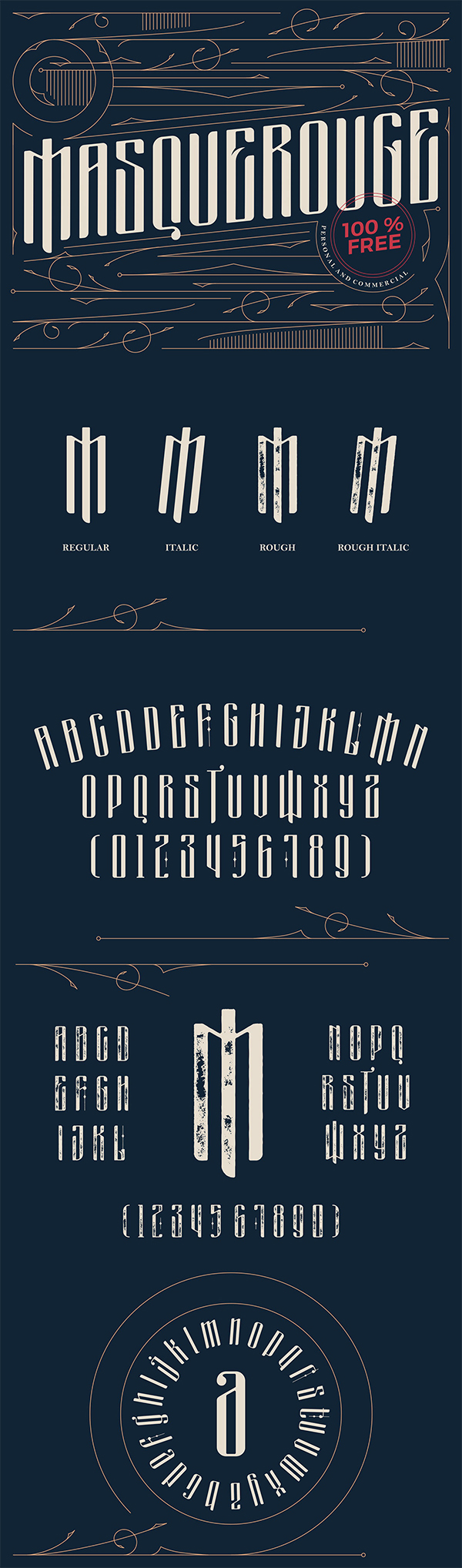 Masquerouge Victorian Display Free Font