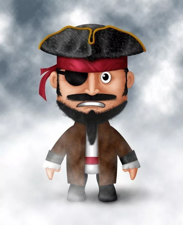 How to Draw a Cute Pirate Character in Photoshop