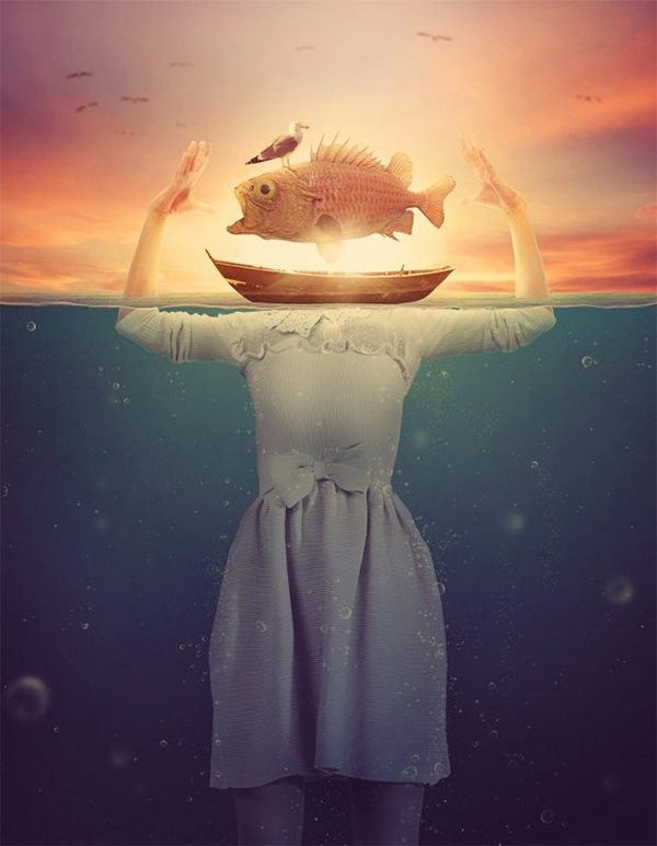 Create Surreal Underwater Scene in Photoshop