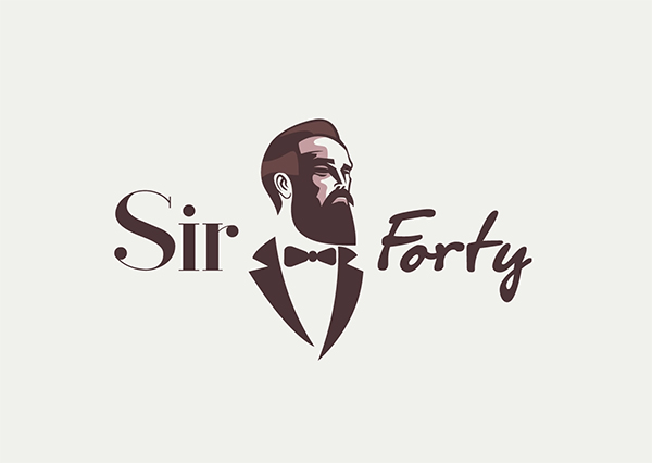 Sir Forty Logo Design