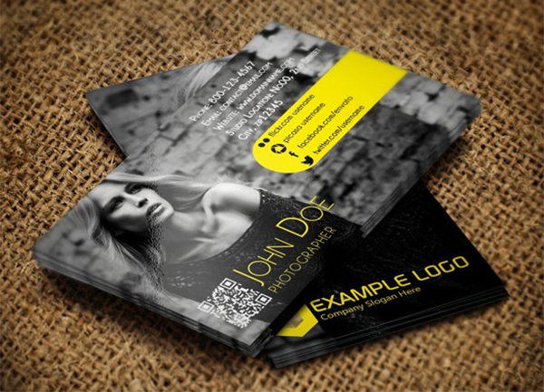 Modern Photographer Business Card
