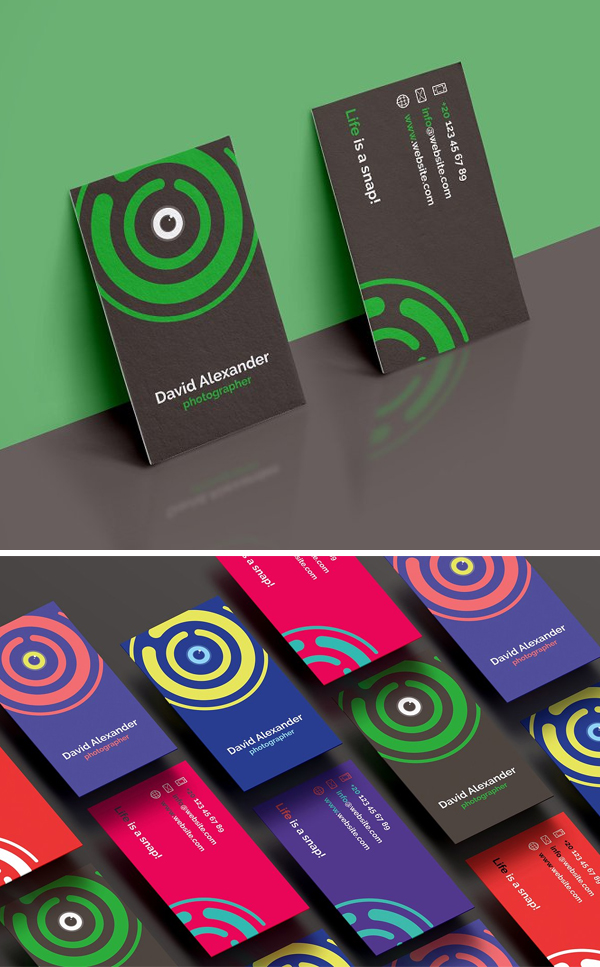 7 Photographer Business Cards