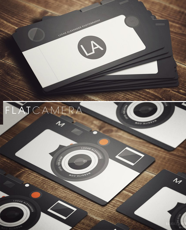 Flat Camera Business Card