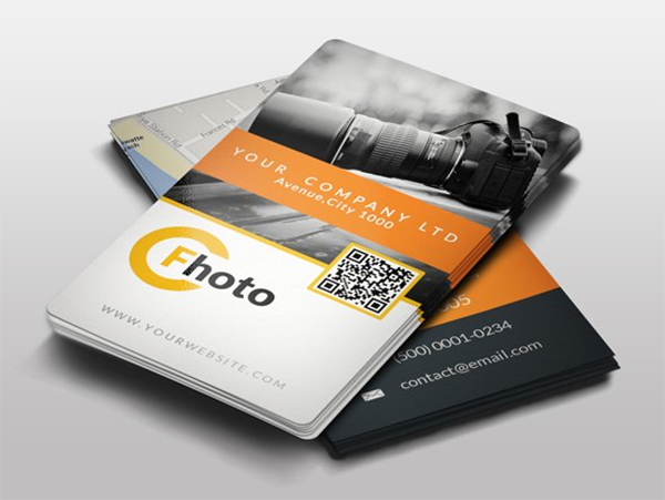 Elegant Photographer Business Card