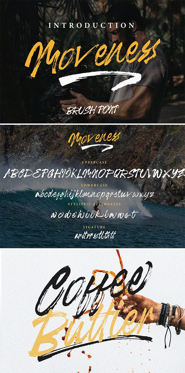 Moveness Brush Font
