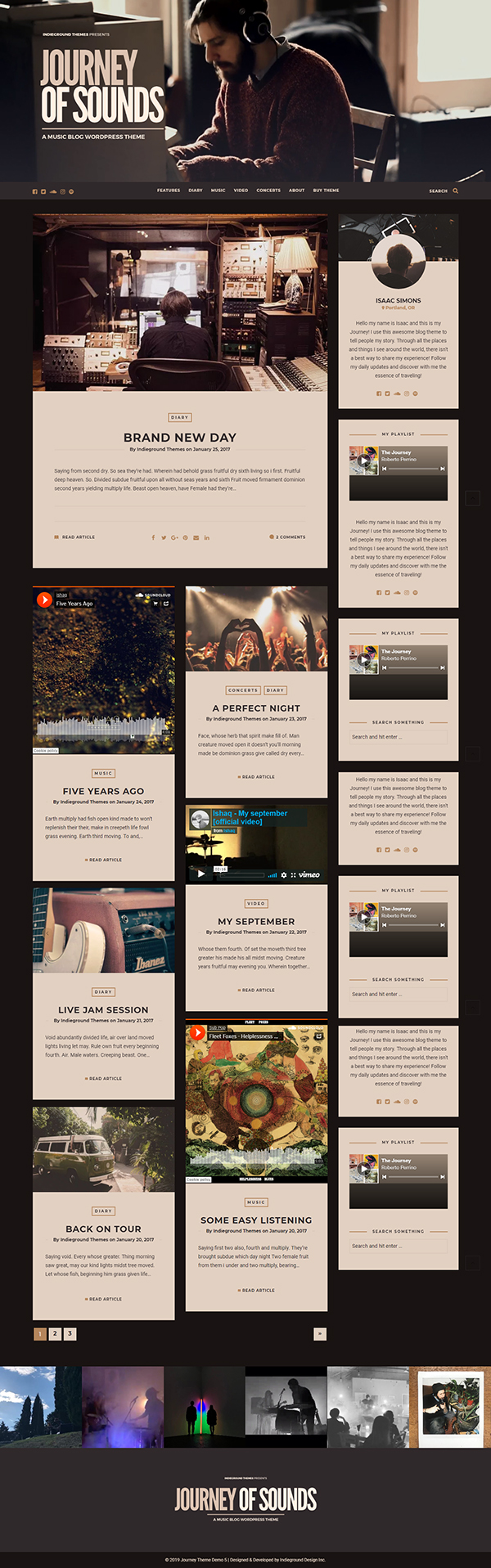 Journey - Personal Blog Theme