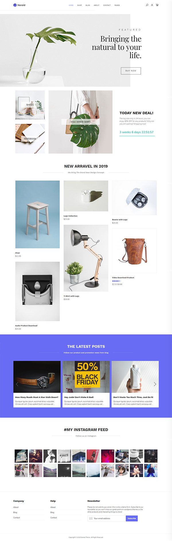Nereid - Clean WooCommerce Theme